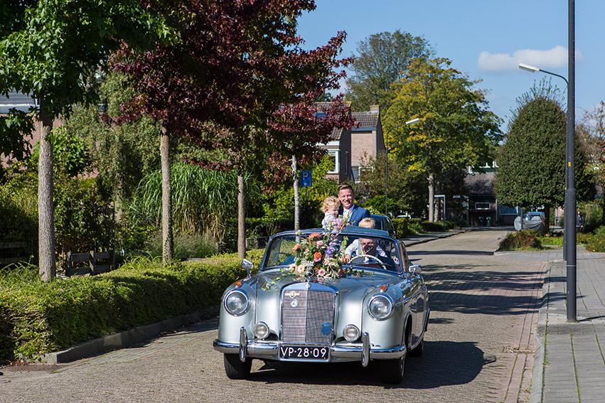 bruiloft in Castricum - FloorFoto - auto