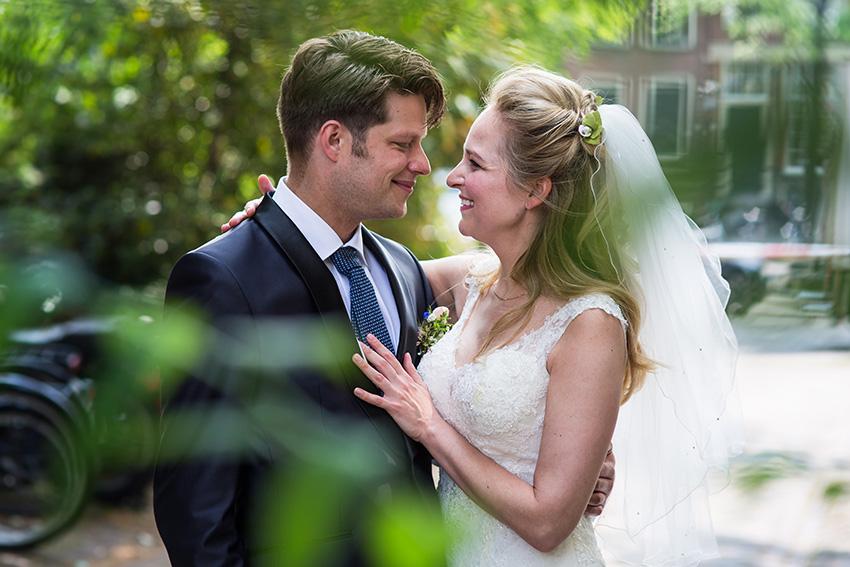 bruiloft in Amsterdam - fotoshoot
