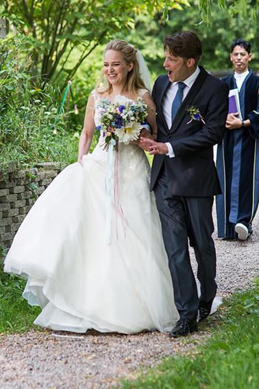 bruiloft in Amsterdam - aankomst ceremonie