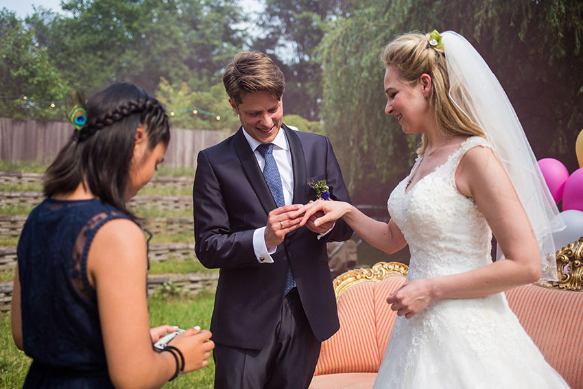 bruiloft in Amsterdam - de ring