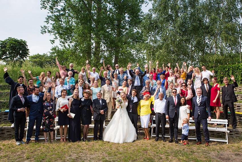 bruiloft in Amsterdam - groepsfoto