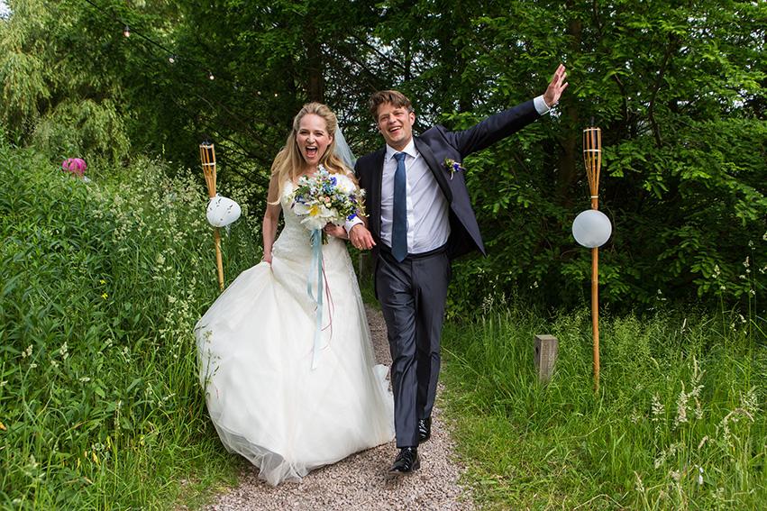 bruiloft in Amsterdam - FloorFoto - bruidspaar