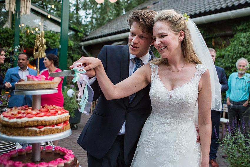 bruiloft in Amsterdam -FloorFoto - taart