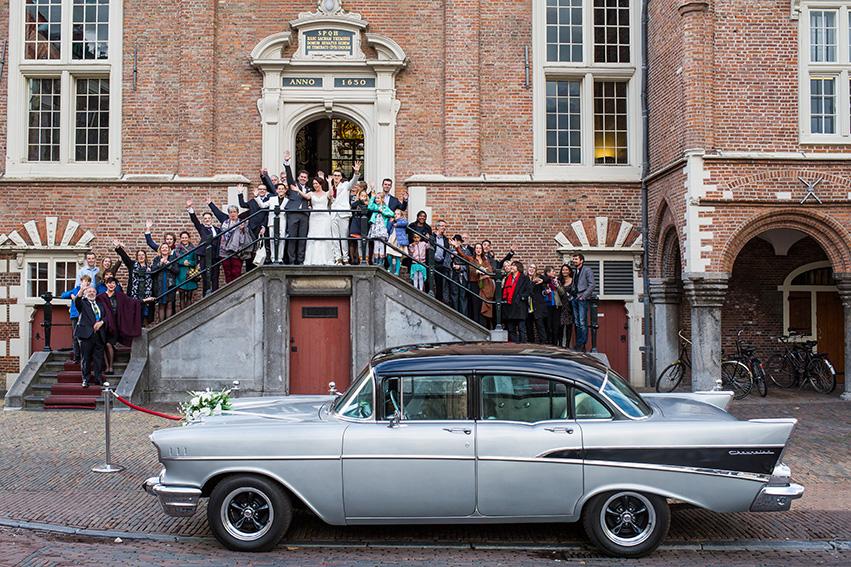 trouwen in Haarlem - Stadhuis groepsfoto