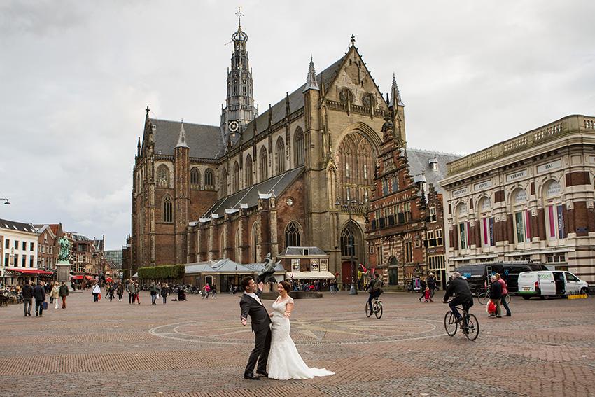trouwen in Haarlem - Grote Markt - Sint Bavo kerk