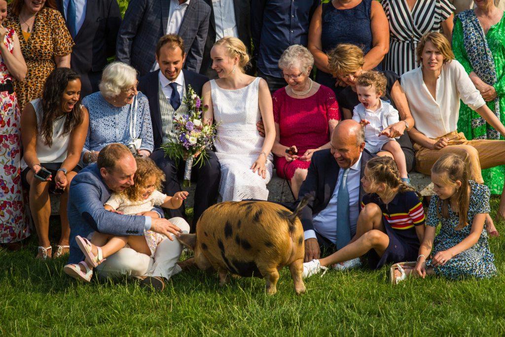 bruiloft bij de Fruittuin van West Amsterdam, FloorFoto