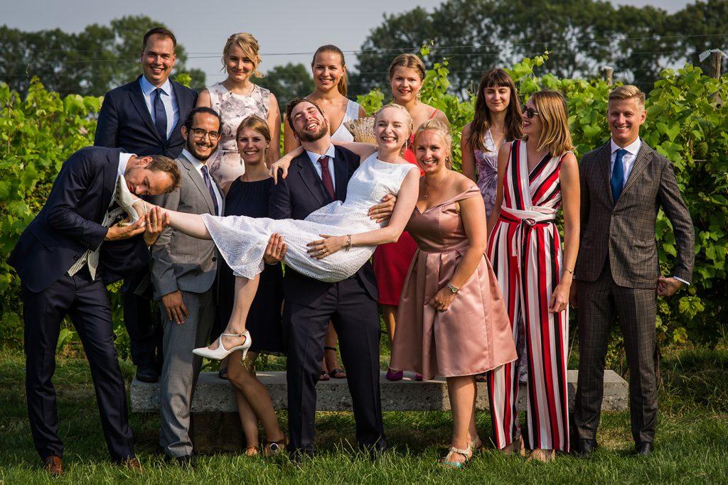 Bedenk tijdens de voorbereiding op jouw trouwfoto's alvast met wie je op de foto wilt