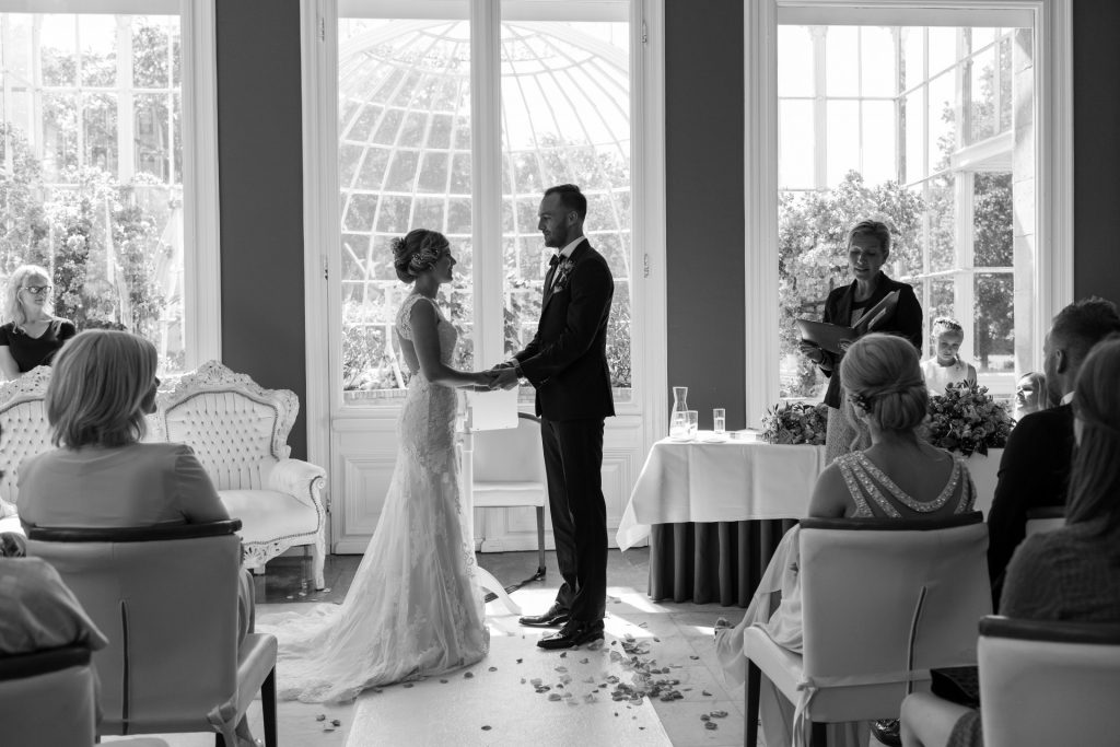 Bruidsfotografie van ceremonie