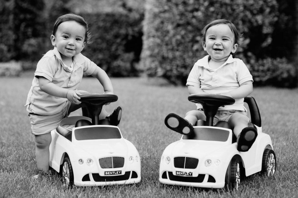 Kinderen bij familiefotoshoot