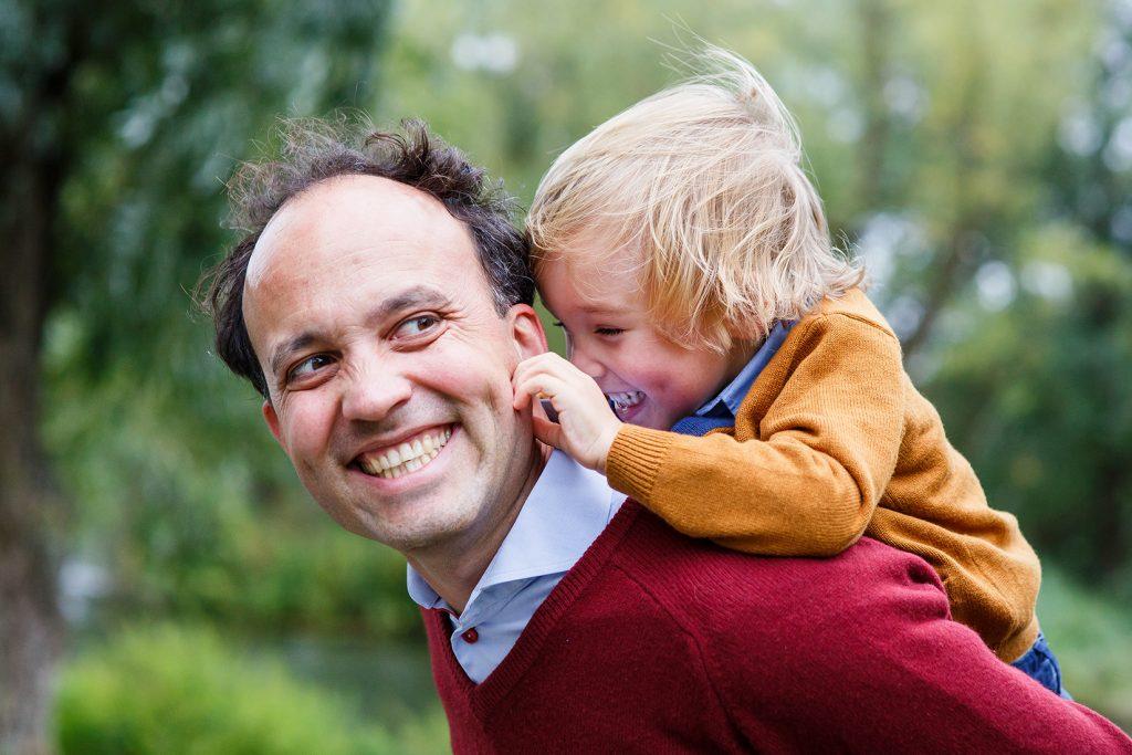 Familiefotoshoot vader en kind